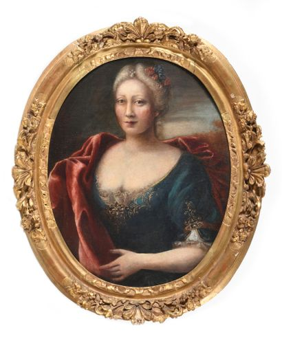 ECOLE FRANCAISE vers 1680 Portrait de femme...