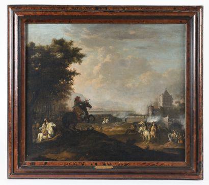 Attribué à Jan van HUCHTENBURCH (1647 - 1733)...