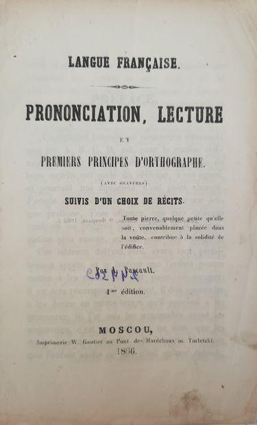 French language. Pronunciation, reading....