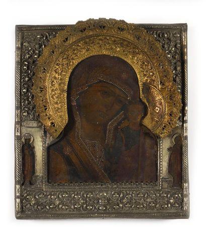 LOT :  « La Vierge de Kazan ». Tempera sur...