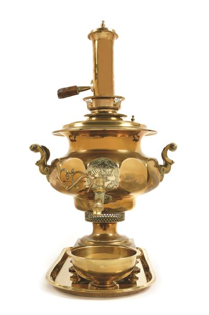 SAMOVAR  Cuivre  Toula, 1878. Manufacture...