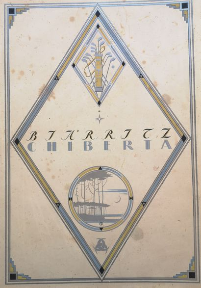 DOBOUZHINSKI MSTISLAV (1875-1957)  Biarritz Chiberta. Ed. Le golf les villas, Paris,...