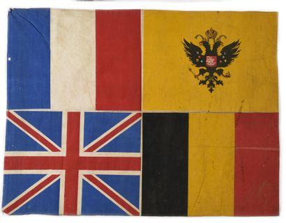 DRAPEAU DES ALLIES  France, Angleterre, Russie...