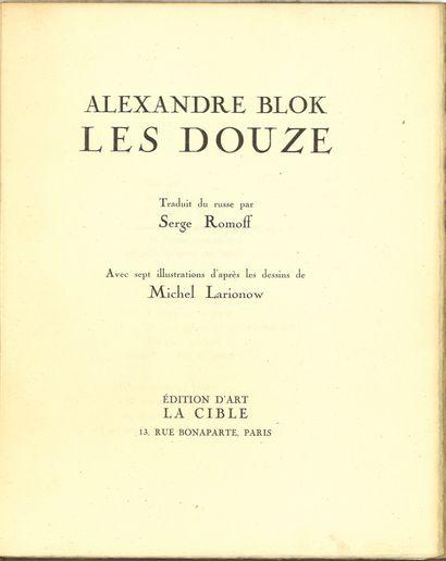 [M.LARIONOV]  BLOCK Alexandre (1880-1921)...
