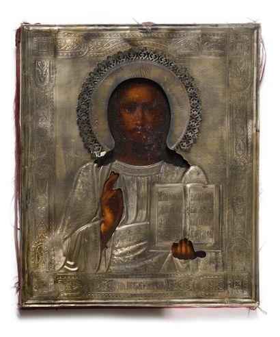ICONE « CHRIST PANTOCRATORE »  Tempera sur...