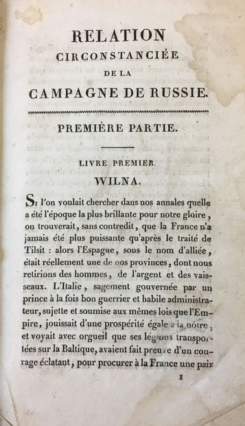 [Russian Campaign of 1812]  LABAUME Eugene...