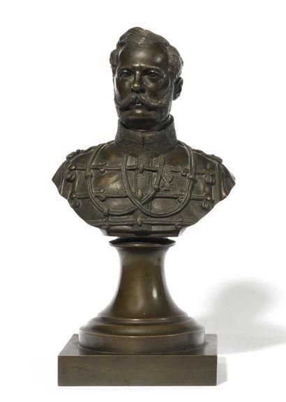 PORTRAIT DE NICOLAS IER  Bronze  France,...