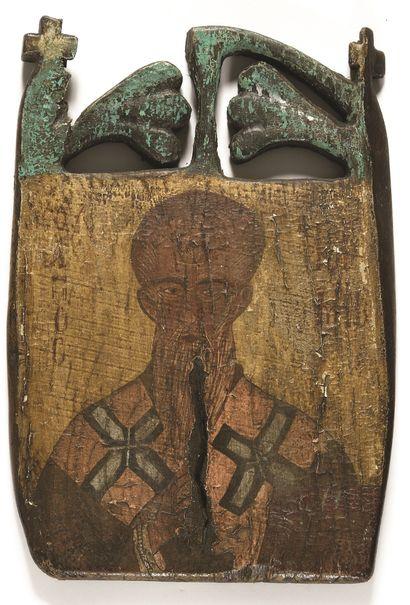 LOT de deux icônes « saint Nicolas »  et...