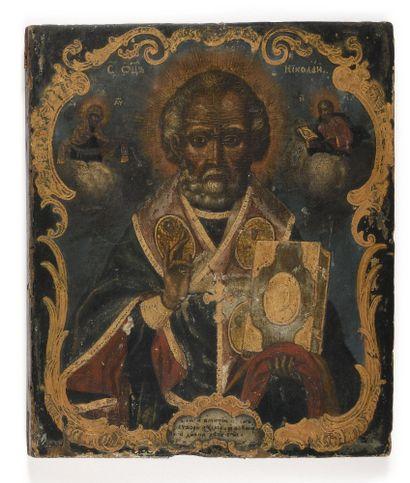 Icône « saint Nicolas »  Tempera sur bois...