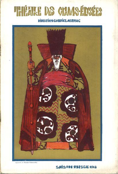 BALLETS RUSSES]  Program for the opera Boris...