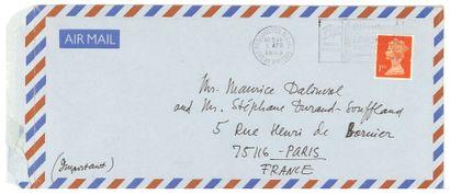 ALLILOUÏEVA SVETLANA (LANA PETER) (1926-2011), FILLE DE JOSEPH STALINE. - AUTOGRAPHE...