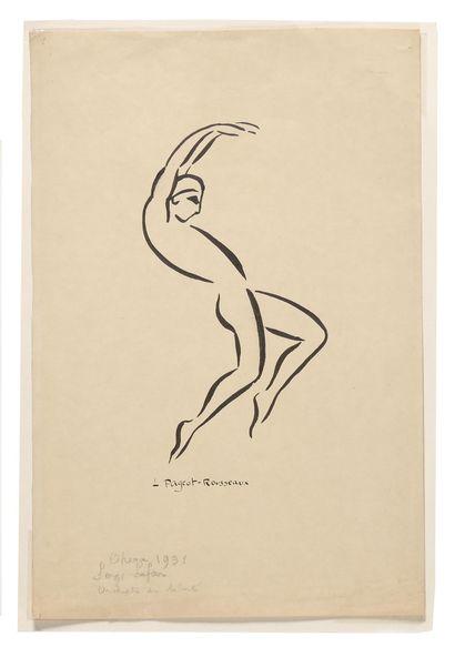 [LIFAR SERGE]  PIGEOT-ROUSSEAU Lucienne (1899-1955)  Serge Lifar à l'Opéra. Avec...