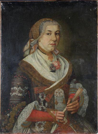 ÉCOLE D'ITALIE DU NORD vers 1700 Portrait...
