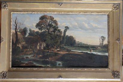 Louis CABAT (1812-1893) « Ferme devant l'étang...
