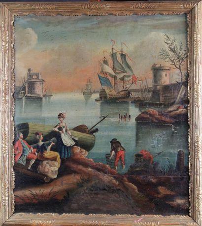Ecole française fin XVIIIe début XIXe siècle...