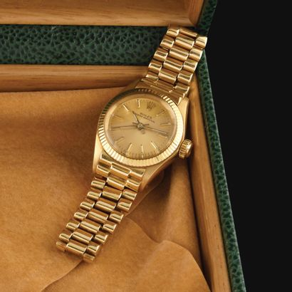 ROLEX Oyster Perpetual Vers 1980. Montre...