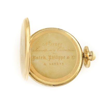 PATEK PHILIPPE Vers 1865. Réf: 182XX. Montre de gousset en or jaune 750/1000, boitier...