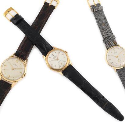 TISSOT Antimagnetic Vers 1950. Montre bracelet...