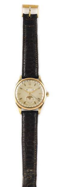 OMEGA Moonphase Vers 1950. Montre bracelet...