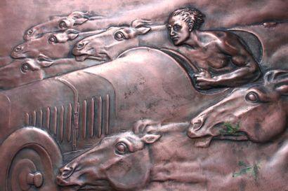 HENRY DROPSY (PARIS 1885 - VENEUX LES SABLONS 1969) Trophée Targa Florio. - 1929...