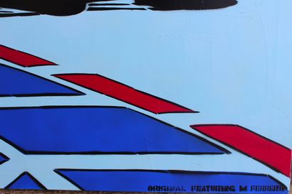 MARC FERRERO ( NE EN 1963) Pop Formula Acrylique en technique mixte sur toile tendue...