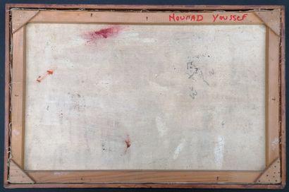 Mourad YOUSSEF (1934-2018)  Huile sur toile  Attelage  Cadre baguette  Signé au...