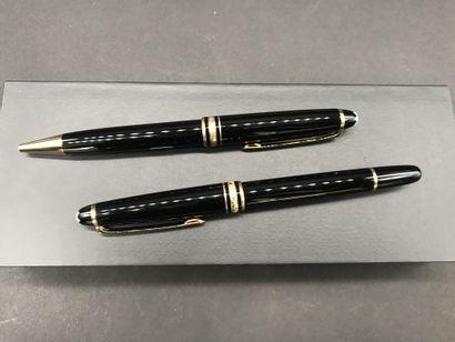 MONTBLANC MEISTERSTUCK  Deux stylos billes  Dans leurs écrins et étuis