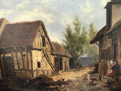 ECOLE FRANCAISE XIXe siècle  Intérieur de...