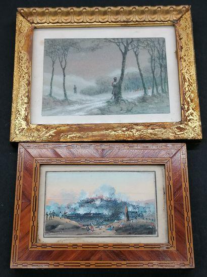 ECOLE FRANCAISE DU XIXe  Deux miniatures...