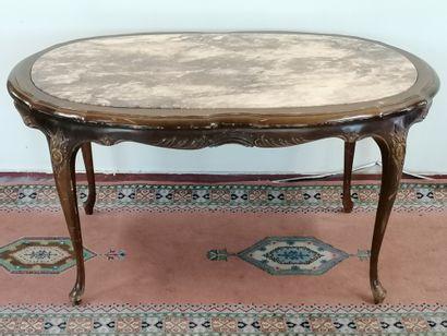 TABLE BASSE DE SALON  de style Louis XV en...