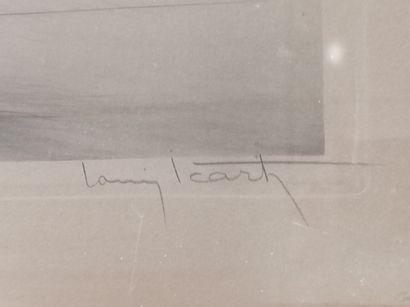 Louis ICART (1888-1950) Louis ICART (1888-1950)  Femme aux lévriers.  Lithographie...