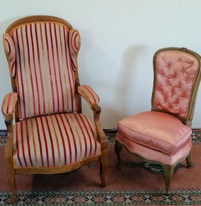 FAUTEUIL VOLTAIRE A OREILLES  On y joint...