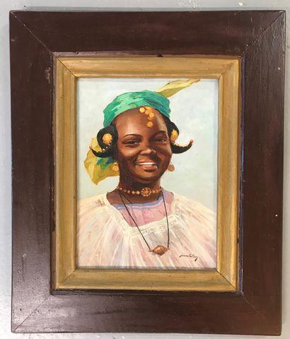Jean PALUN  Portrait de femme  Huile sur...