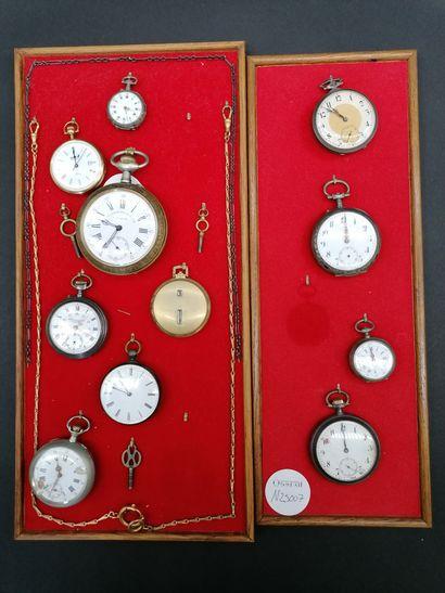 Collection de MONTRES de gousset  10 montres...