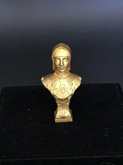 CACHET  en bronze doré représentant JEANNE...