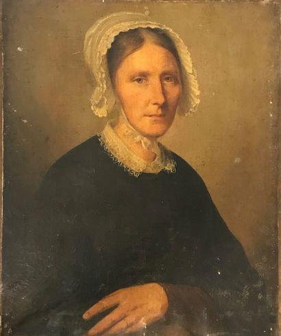 ECOLE FRANCAISE DU XVIIIe siècle  Portrait...