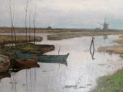 ECOLE HOLLANDAISE DE LA FIN DU XIXe siècle...