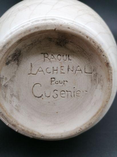 Raoul LACHENAL (1885-1956) RAOUL LACHENAL (1885-1956) POUR CUSENIER  Paire de bouteilles...