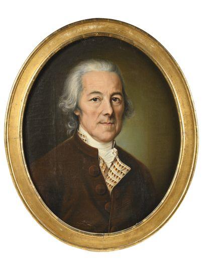* ECOLE SUISSE VERS 1790 Portrait de dame...