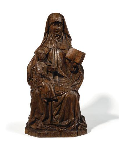 SAINTE ANNE ENSEIGNANTE en chêne sculpté...