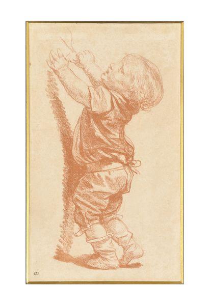 JEAN-BAPTISTE GREUZE (1725-1805) Etude d'enfant...