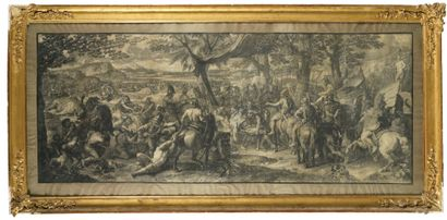 GIRARD AUDRAN (1640-1703) D'APRES CHARLES LEBRUN (1619-1690) Les batailles d'Alexandre...