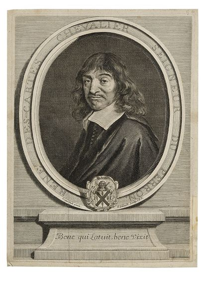 GERARD EDELINCK (1640-1707) Portrait de René...