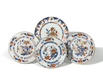 LOT comprenant : - Chine Trois assiettes...