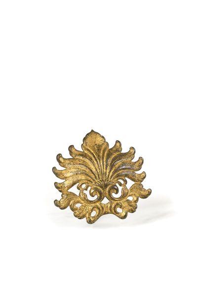 AGRAFE en bronze doré XVIIIème siècle Haut....
