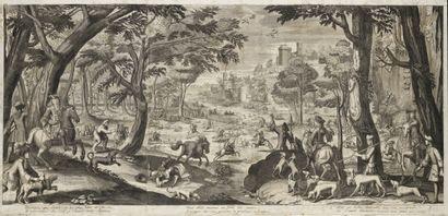 Pierre Gallays (1677-1749) Les chasses au...