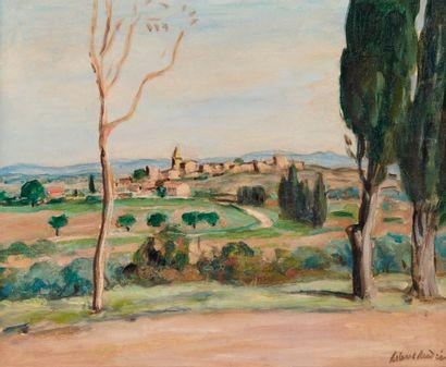 ALBERT ANDRÉ (1869-1954) Vue du village de...