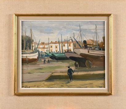 LOUIS ANTRAL (1895-1939) Port Joinville (Ile...