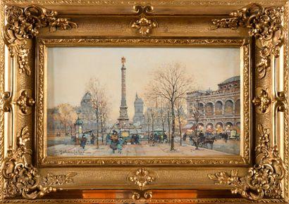 EUGENE GALIEN-LALOUE (1854-1941) Place du...