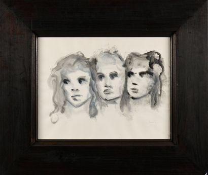 LEONOR FINI (1907-1996) Trois visages, 1988...